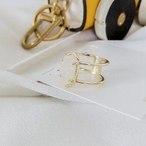 Gold Kendra Scott Elyse Ring SIZE 7 In Drusy